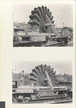 GFA 11/48842-48843: Peltonrad verladen für den Bahntransport, Güterbahnhof