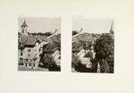 GFA 11/601098-601099: St. Johann mit Munot   -  Munot und Münster