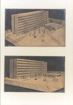 GFA 11/601487-601488: Modell Neues Verwaltungsgebäude Ebnat