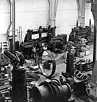 GFA 12/41100: View into the steel foundry with carousel lathe