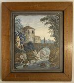 GFA 1/156.89.5: Turm mit Fluss und Brücke