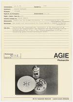 GFA 42/42112: Stamping die for mica insulators