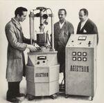 """GFA 42/62129: Print from """"Schweizerische Mechanikerzeitung"""" with AGIETRON AZ 4"""