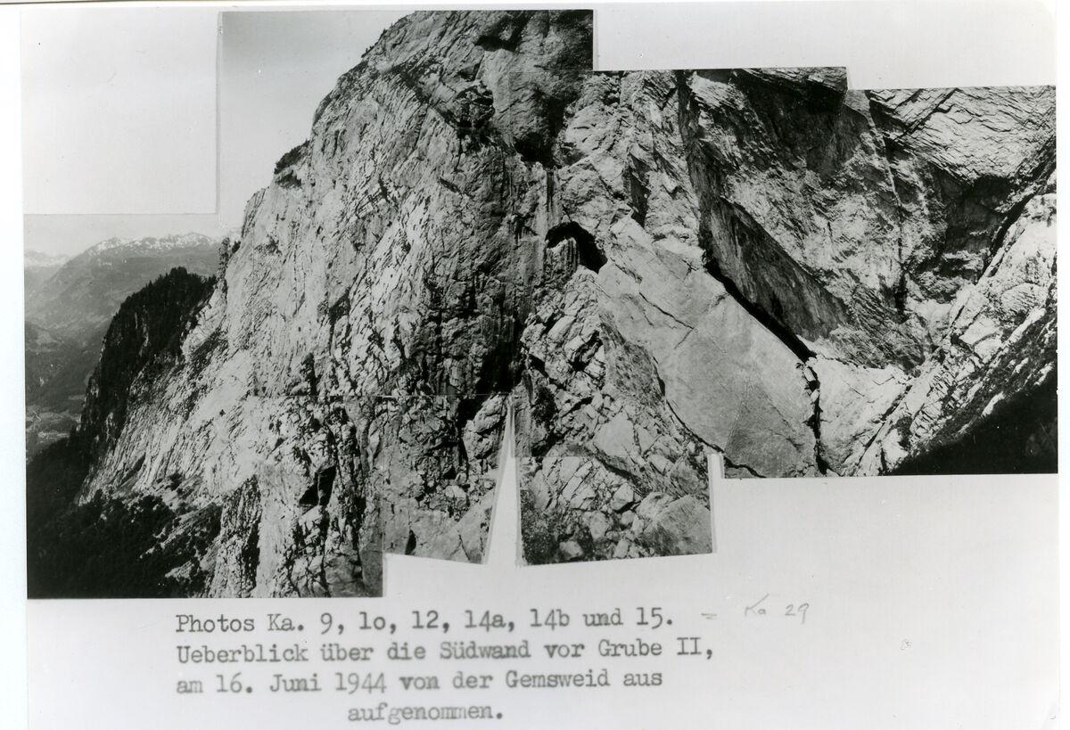 EBA 2/321.16: Landschaftsaufnahmen Gonzen aussen, Collage