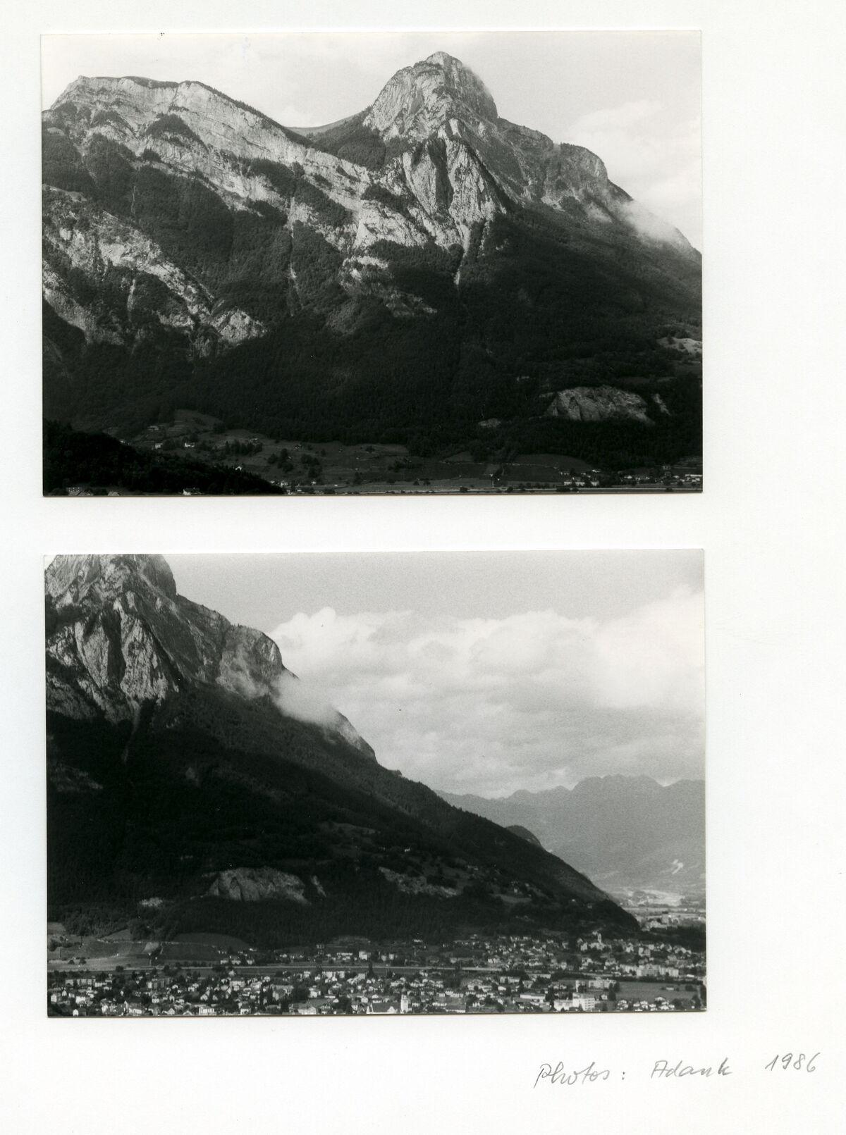 EBA 2/321.20: Landschaftsaufnahmen Gonzen aussen