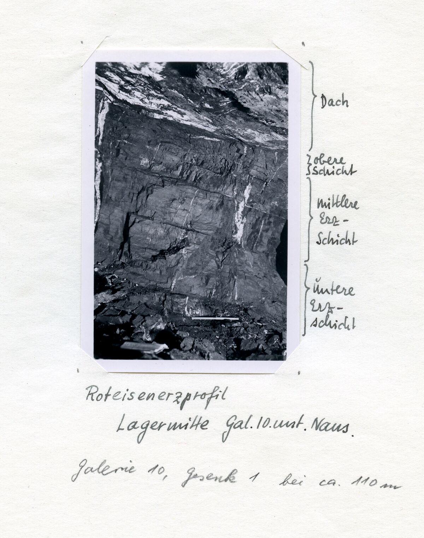 EBA 2/321.29: Gonzen, Bergwerksaufnahmen unter Tage