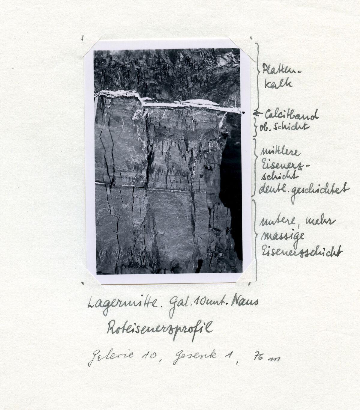 EBA 2/321.30: Gonzen, Bergwerksaufnahmen unter Tage