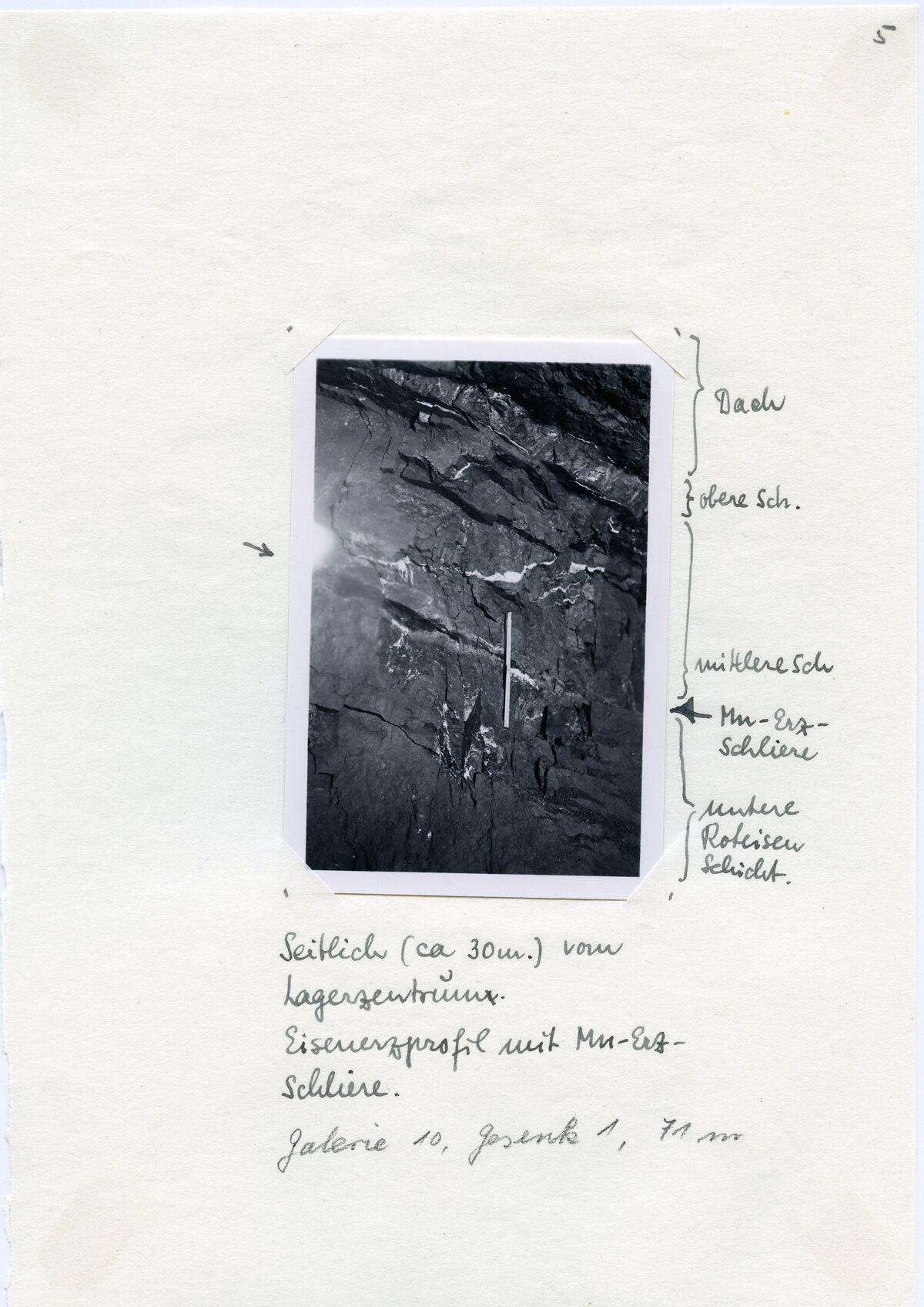 EBA 2/321.31: Gonzen, Bergwerksaufnahmen unter Tage