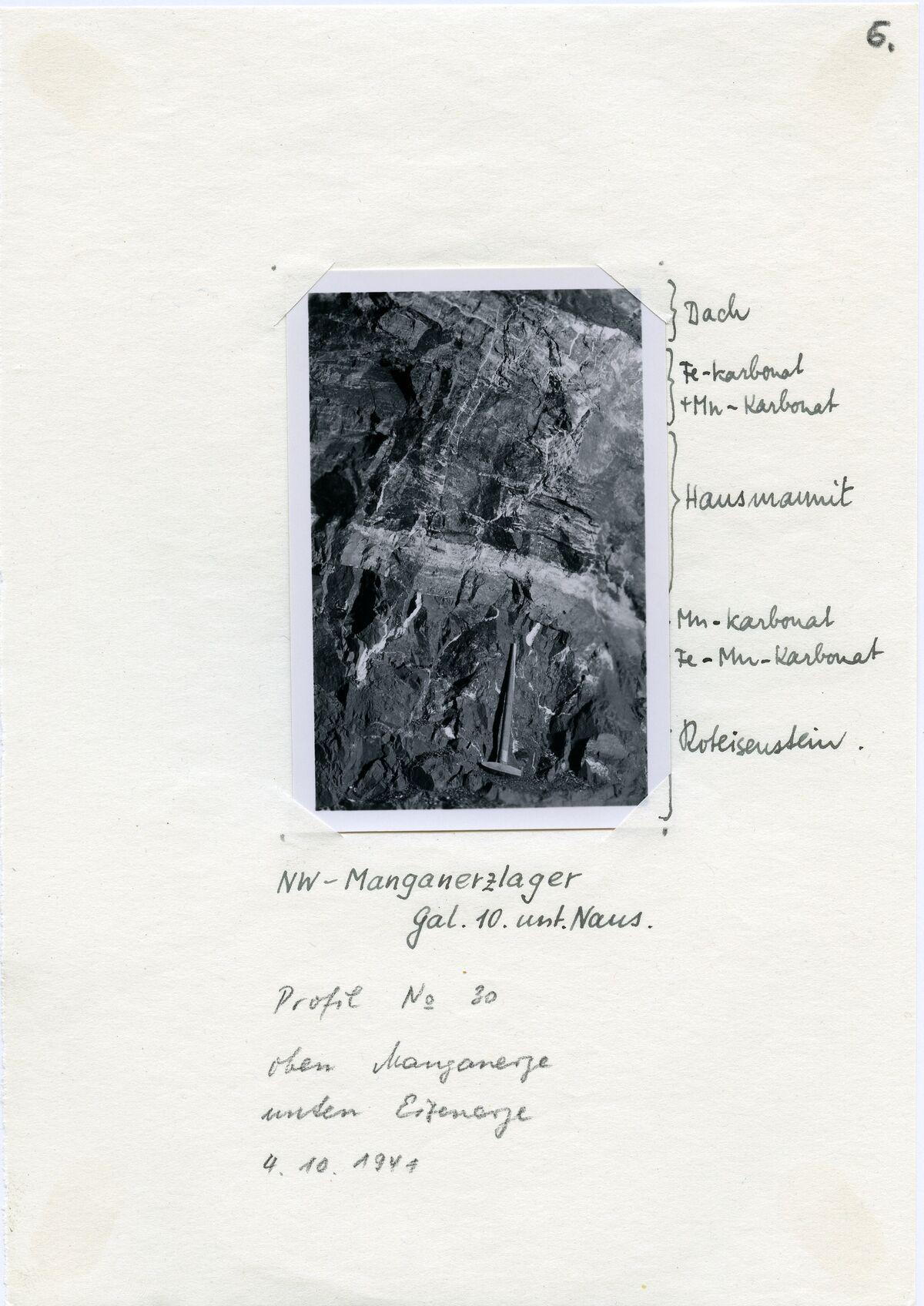 EBA 2/321.32: Gonzen, Bergwerksaufnahmen unter Tage