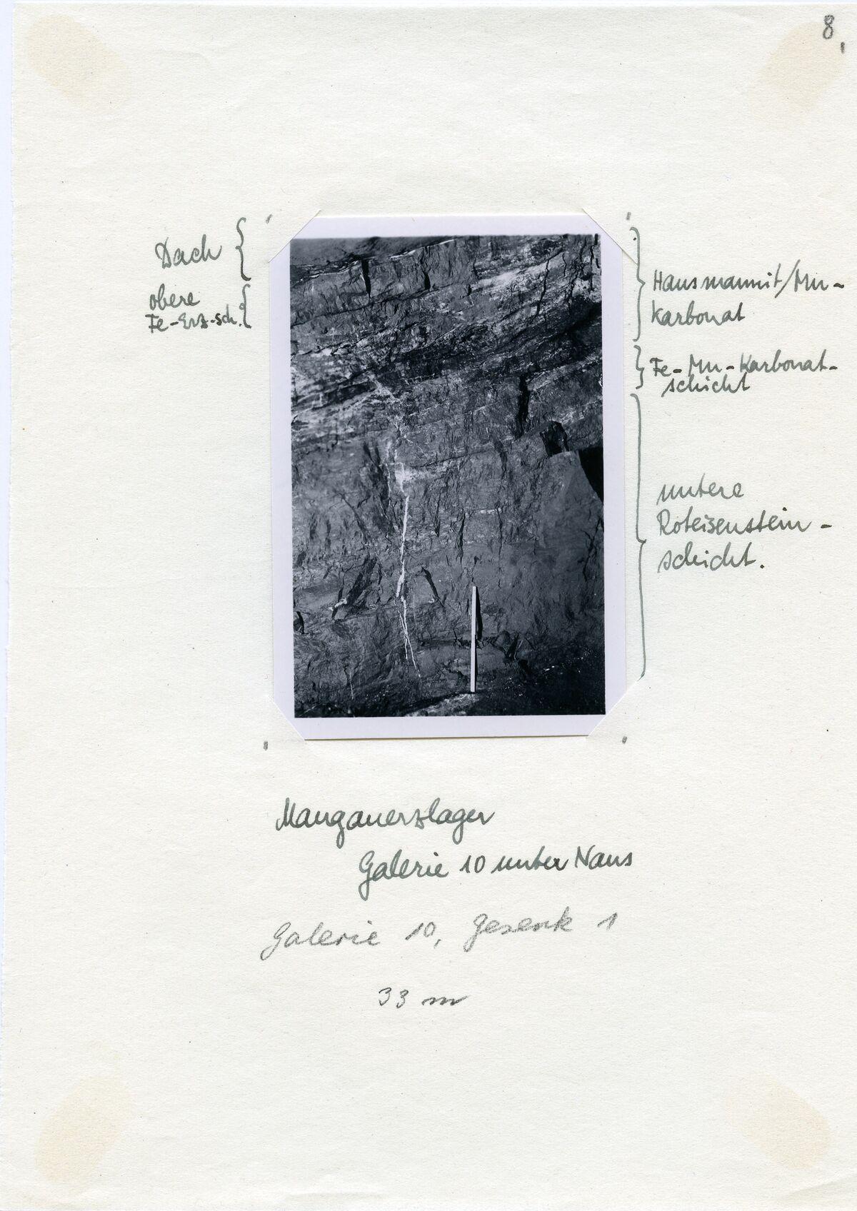 EBA 2/321.33: Gonzen, Bergwerksaufnahmen unter Tage