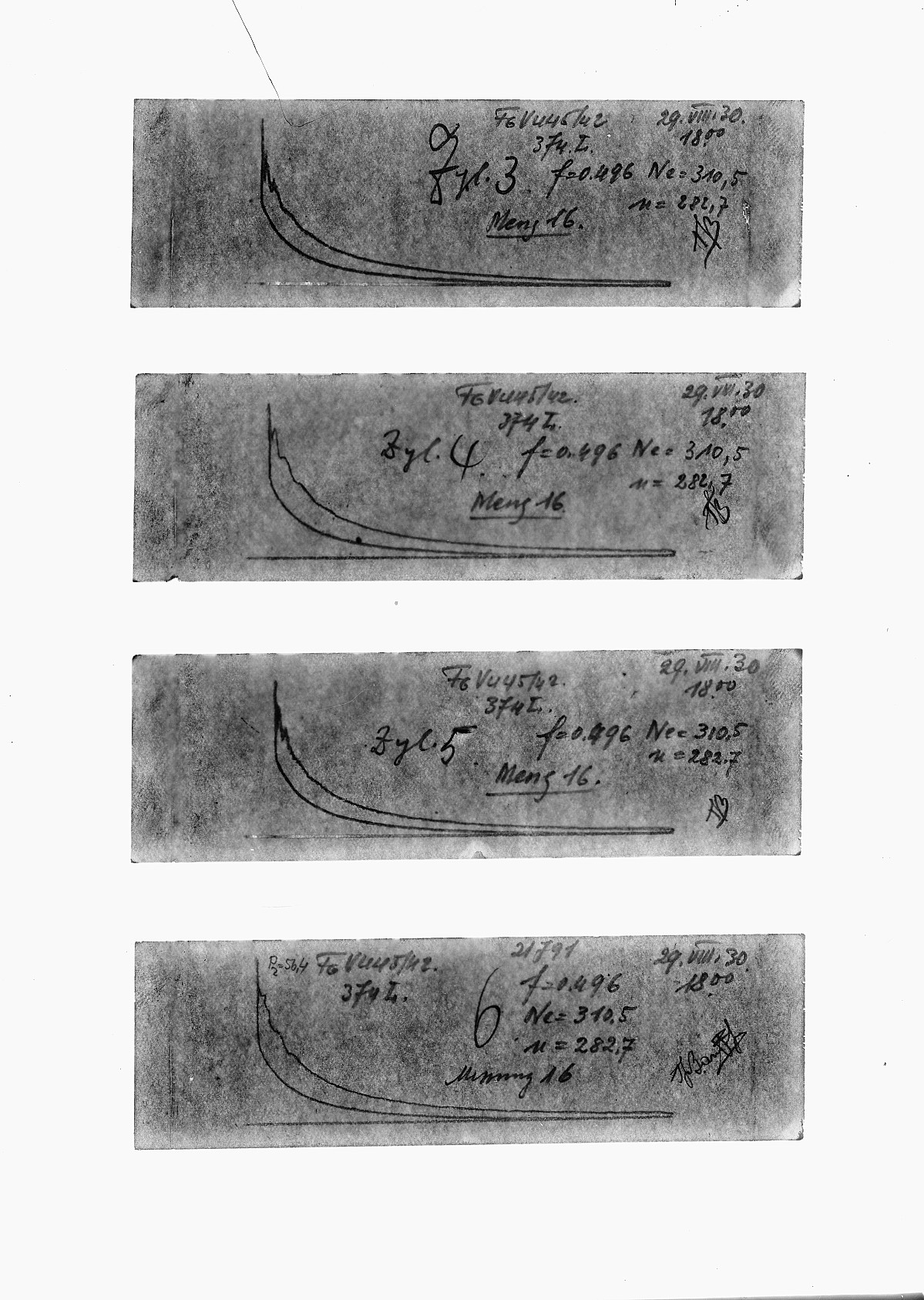 GFA 16/15176: Diagrams in the acceptance reports of GOMZY-LENINGRAD engine