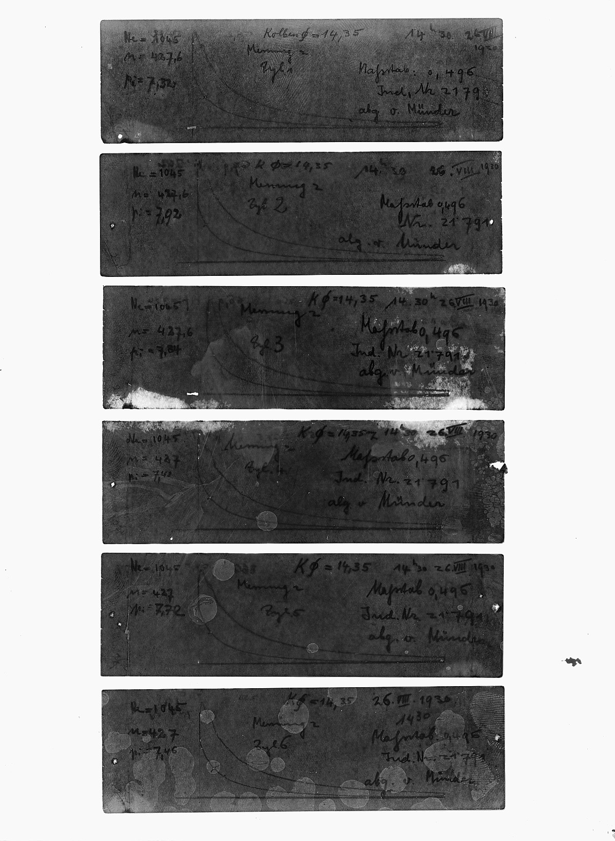 GFA 16/15188: Diagrams in the acceptance reports of GOMZY-LENINGRAD engine