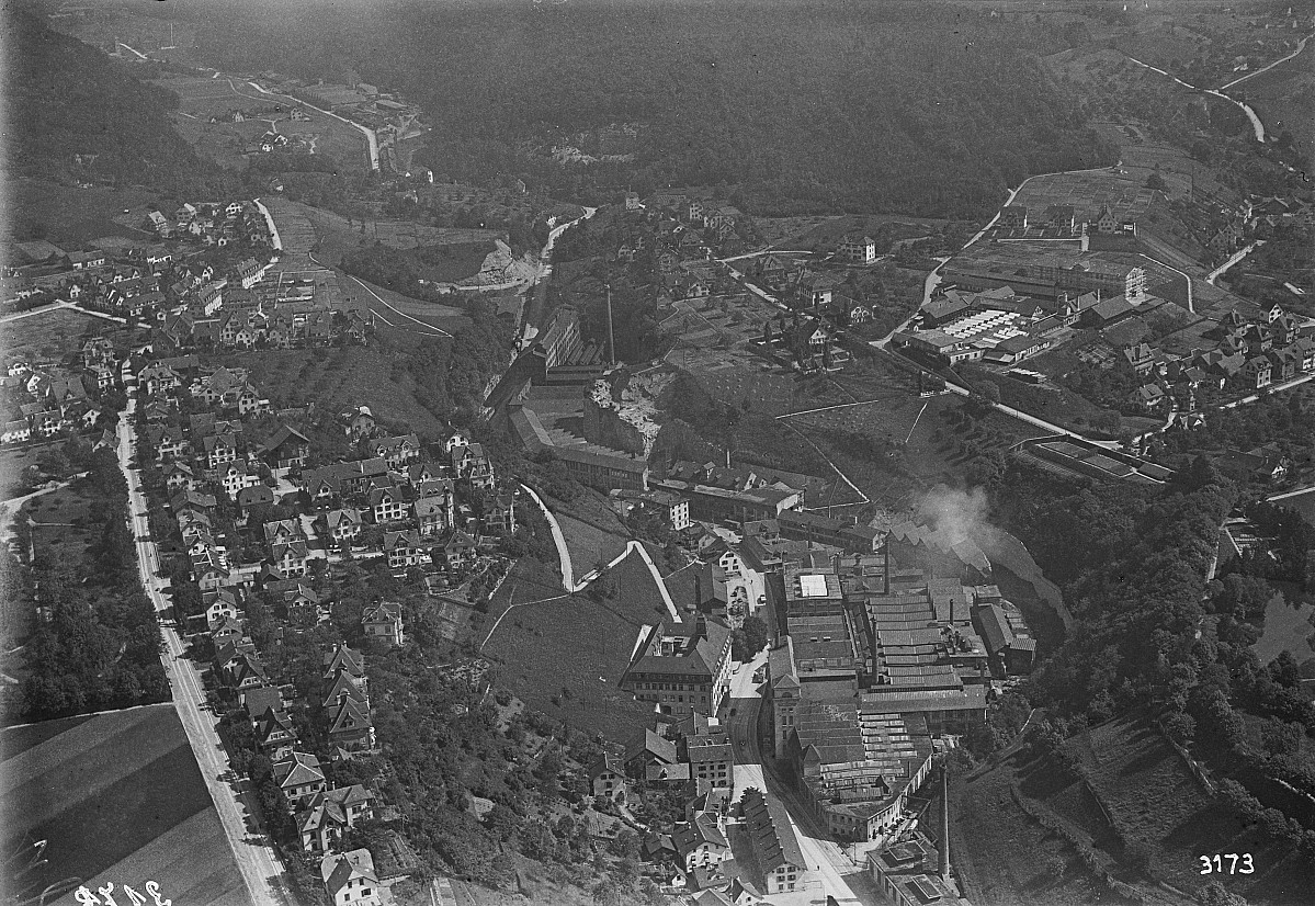 GFA 16/3173: Overall view of the GF plants in Mühlental, Birch and Geissberg 1920