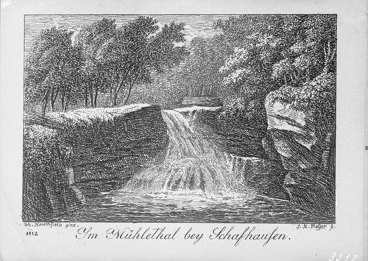 "GFA 16/3312: Lithograph of the ""Kessel"" in Mühlental"
