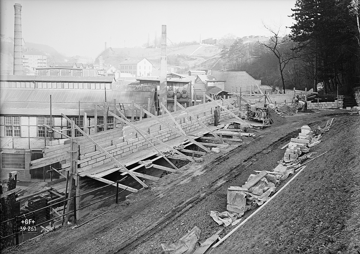 GFA 16/39261: Construction of a retaining wall near plant I