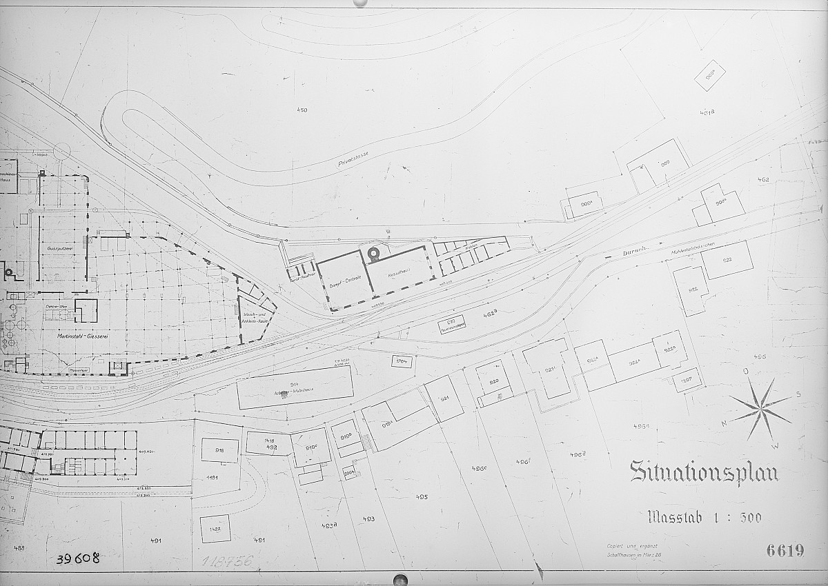 GFA 16/39608: General plan of site, conversion plant I