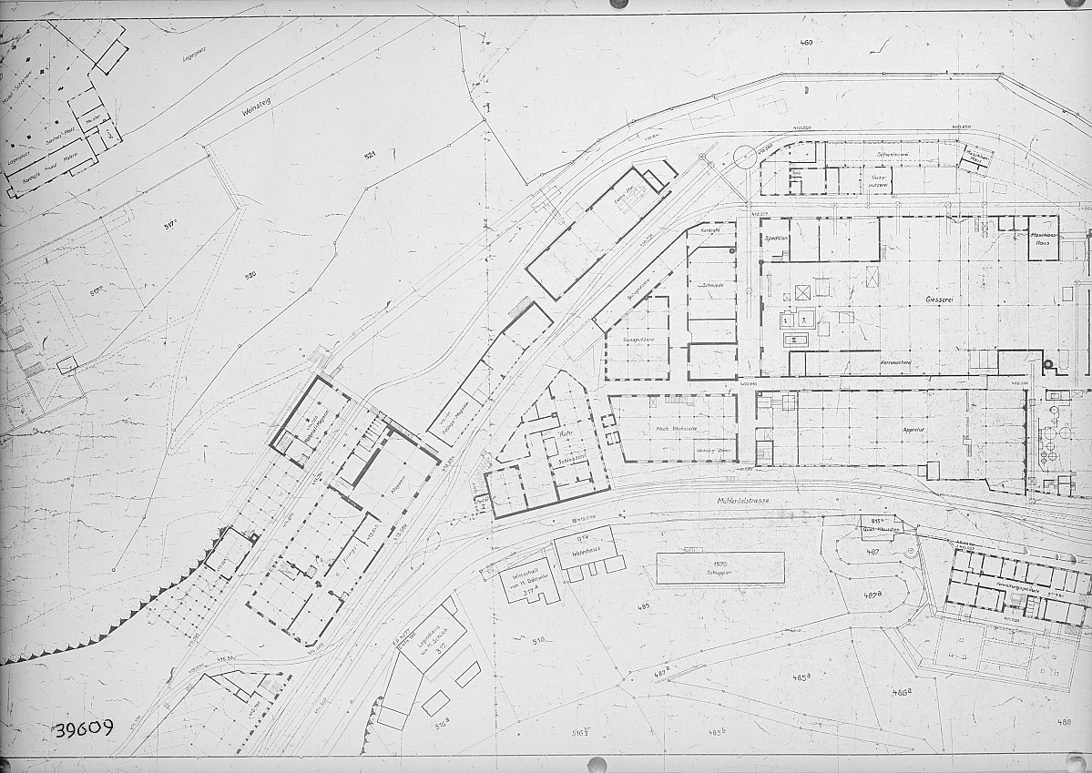 GFA 16/39609: General plan of site, conversion plant I
