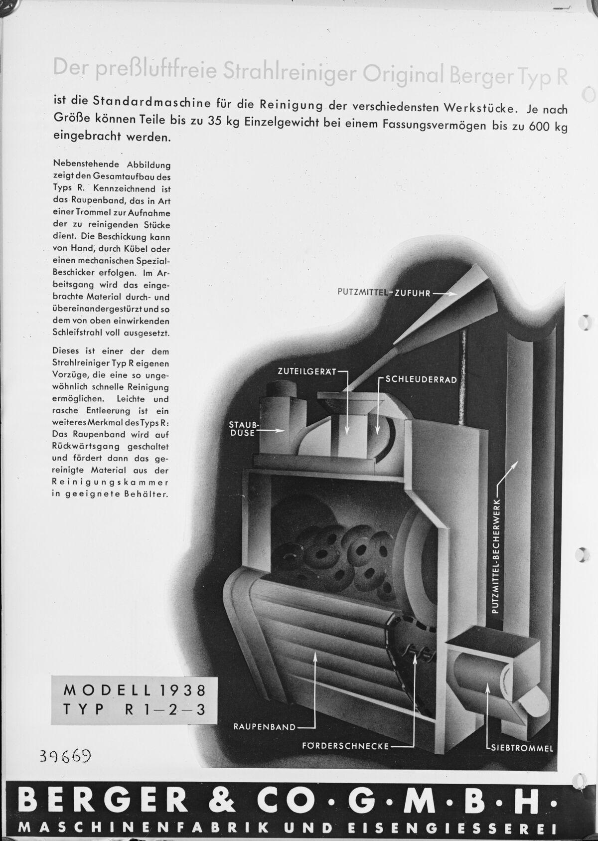 GFA 16/39669: Steel cleaner Berger