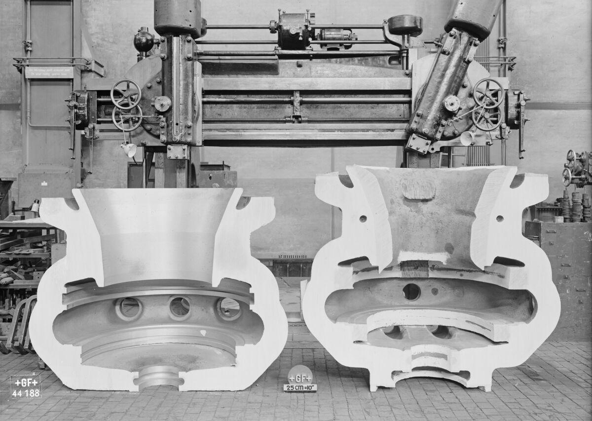GFA 16/44188: Half of a steam turbine casing