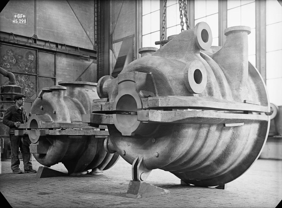 GFA 16/45298: Turbine casing Escher Wyss
