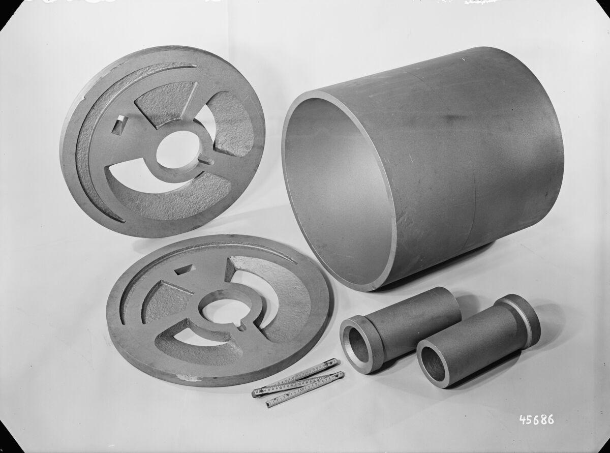 GFA 16/45686: Control disc, housing, shaft sleeves, Burkhardt