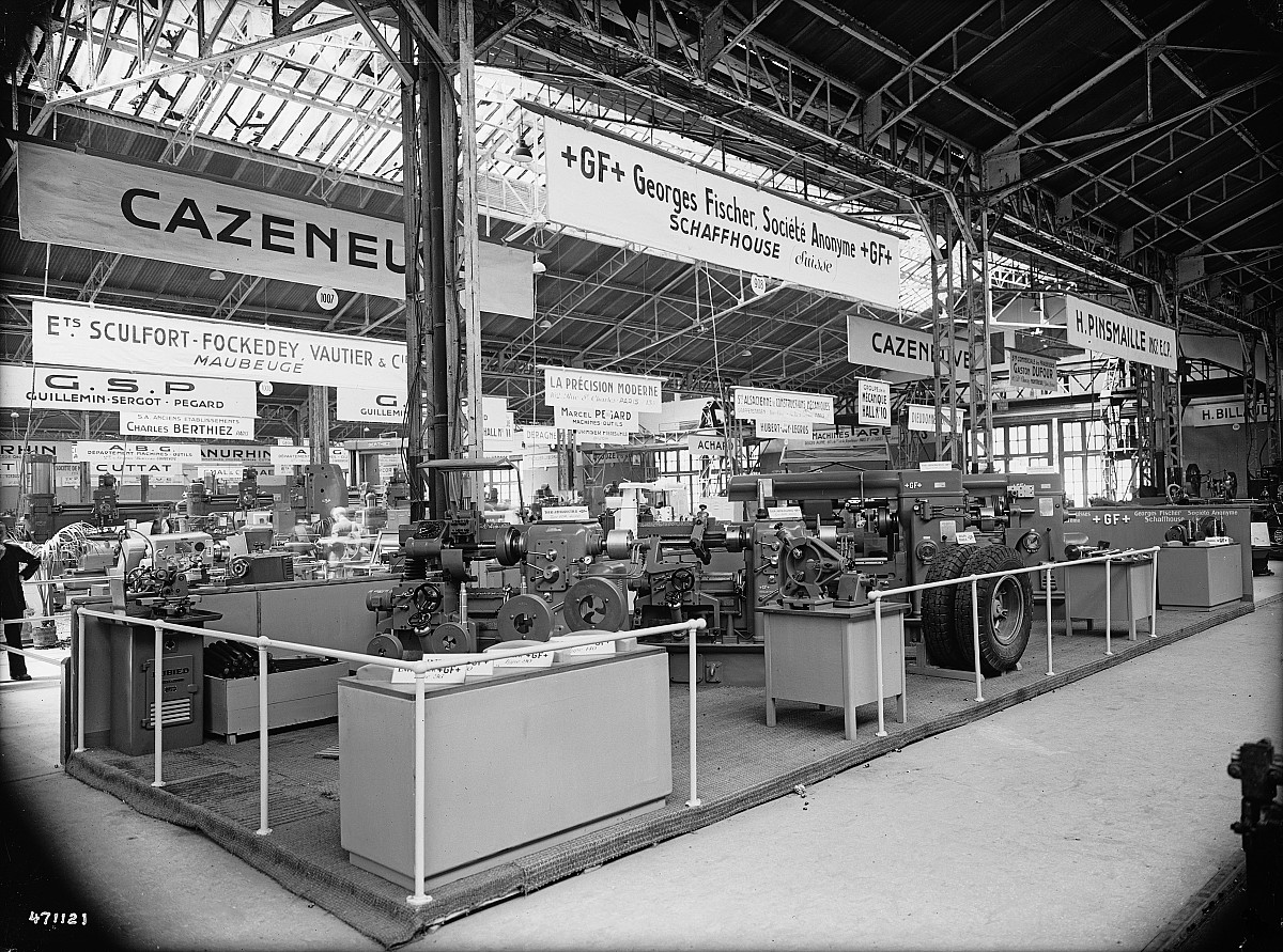 GFA 16/471121: Exhibition in Paris, machine tools