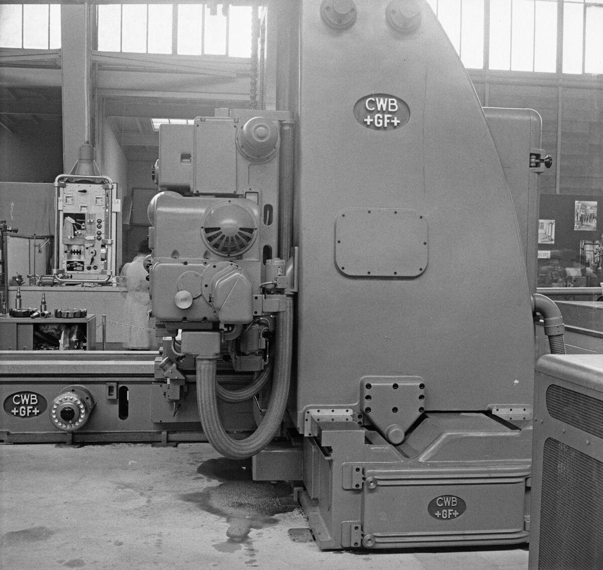"""GFA 16/48464: MUBA Basel (sample fair """"Mustermesse""""), boring mill CWB"""