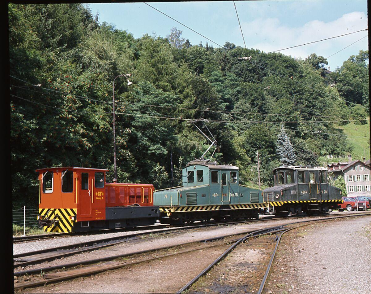 GFA 17/801291: Elektroloks der Schmalspurbahn im Mühlental vor der Ausserverkehrssetzung