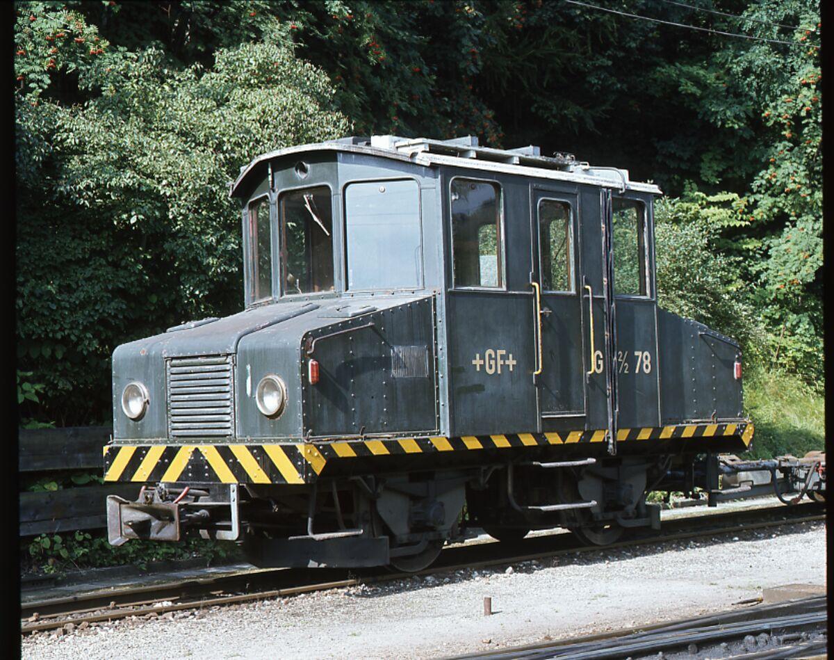 GFA 17/801294: Elektroloks der Schmalspurbahn im Mühlental vor der Ausserverkehrssetzung