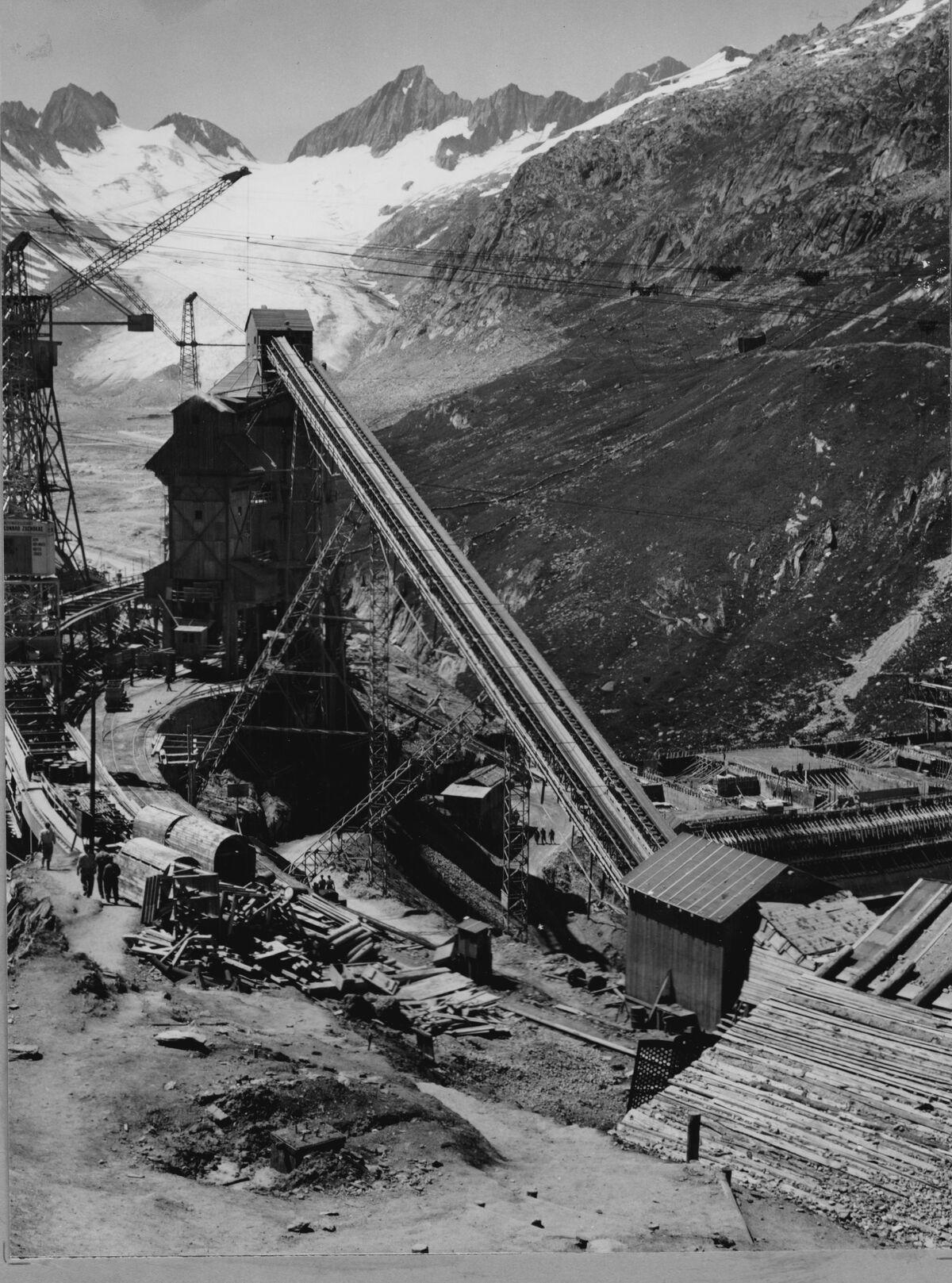 GFA 20/135.195: Stahl- und Brückenbau: Stahlbau Transportbahnbrücke Oberaar