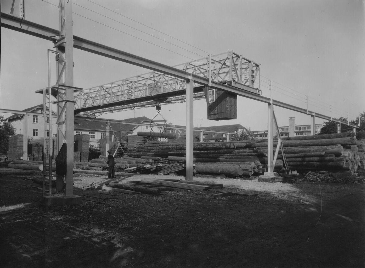 GFA 20/135.196: Stahl- und Brückenbau: Lagerkran Häring Pratteln