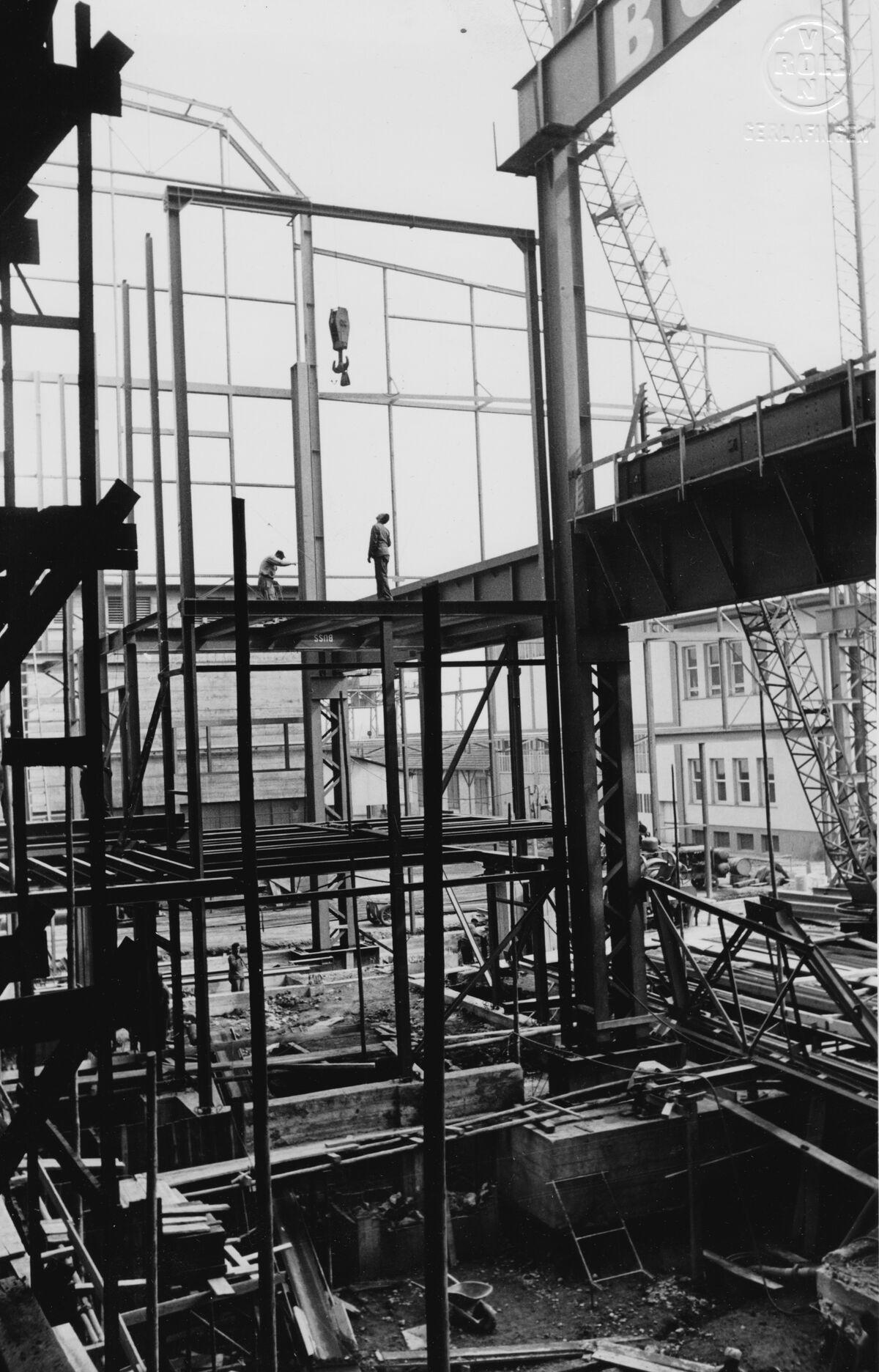 GFA 20/135.203: Stahl- und Brückenbau: Erweiterung Stahlwerk Ost Montagezusatnd