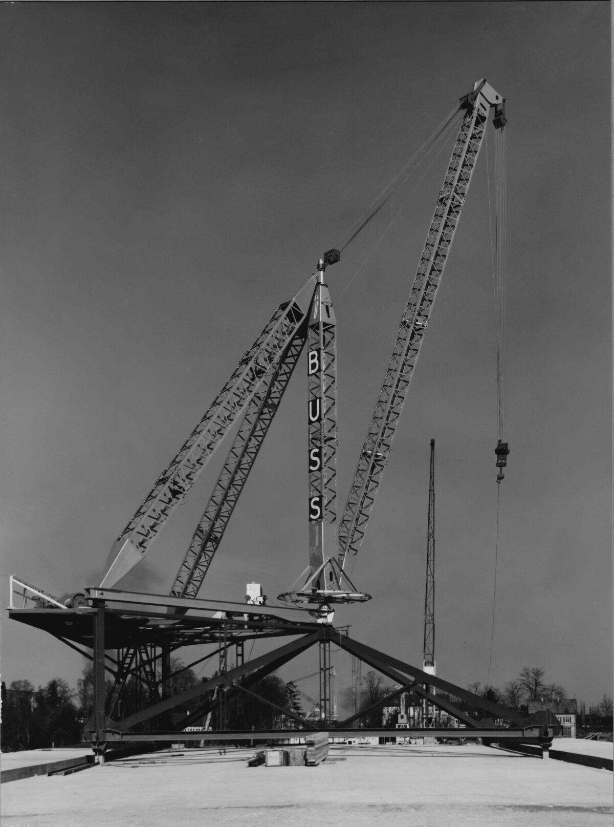 GFA 20/135.221: Stahl- und Brückenbau: St.Albanbrücke Montagekran