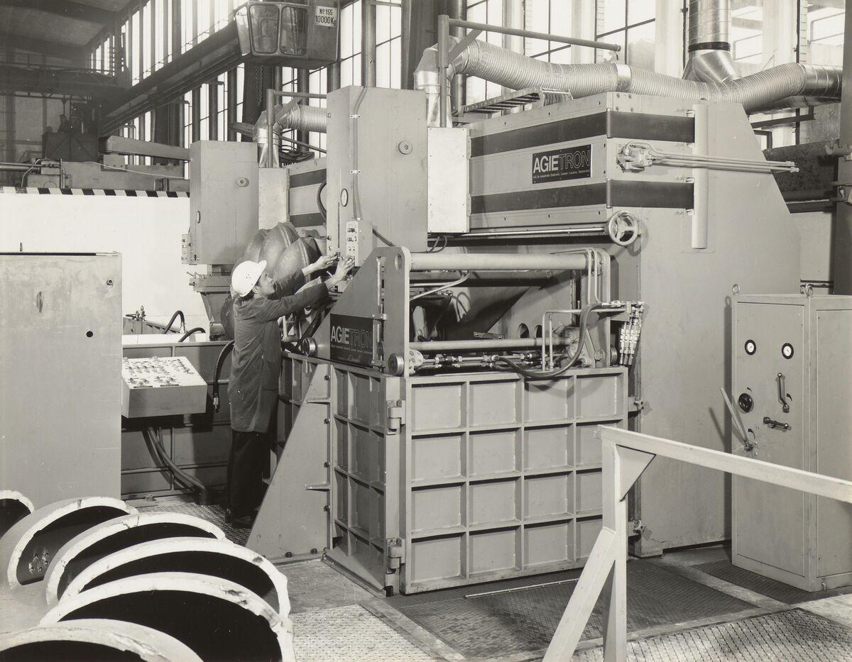 GFA 42/35512: AGIETRON-EMS 30 / P38 special machine at Georg Fischer, Schaffhausen