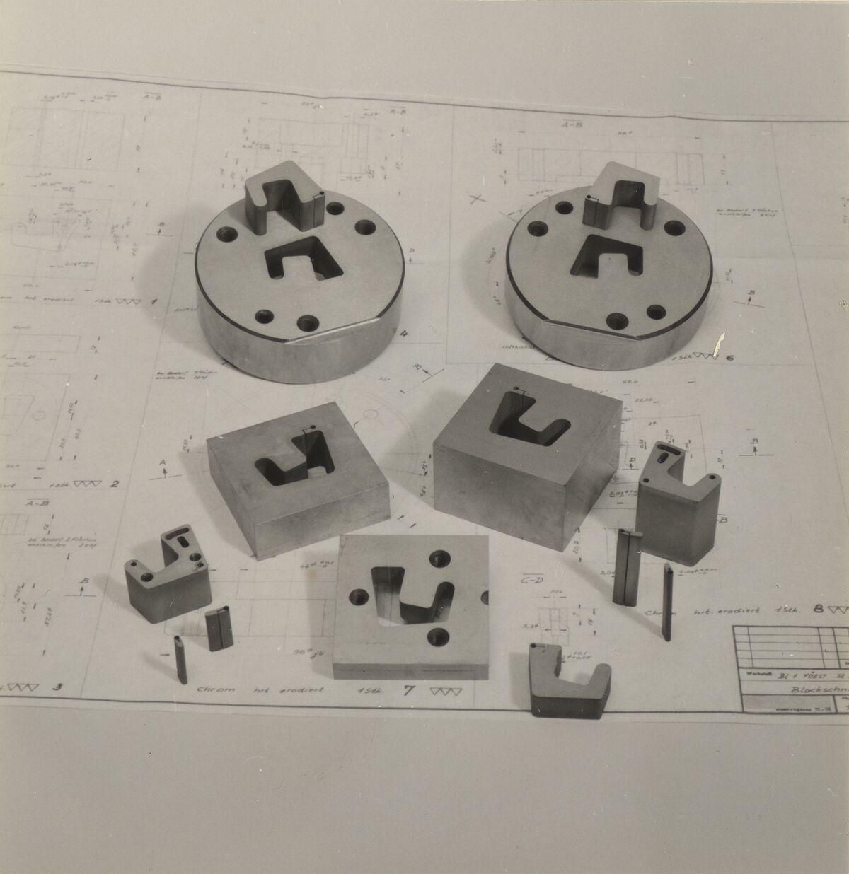 GFA 42/37078: Bau- und Bearbeitungsrestteile für Blockschnittwerkzeuge