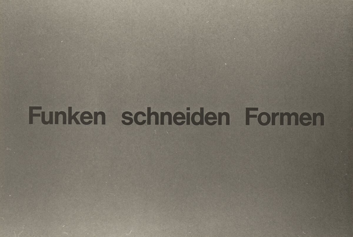 "GFA 42/50065: Title slide ""Spark, cut, shape"""